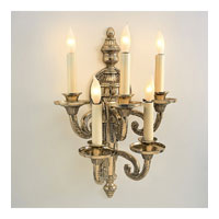 JVI Designs Regal 5 Light Wall Sconce in Antique Brass 667-05