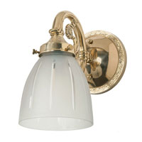 JVI Designs Signature 1 Light Bath Sconce in Polished Brass 705-01