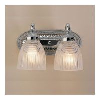 Cast Brass 2 Light 12 inch Polished Chrome Bath Sconce Wall Light