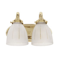 Traditional 2 Light 12 inch Polished Brass Bath Sconce Wall Light