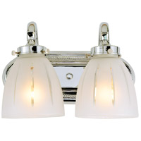 Traditional 2 Light 12 inch Polished Chrome Bath Sconce Wall Light