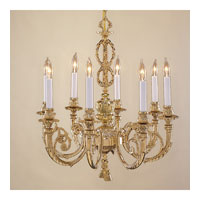 JVI Designs Majestic 8 Light Chandelier in Antique Brass 758-05 photo thumbnail