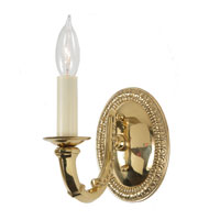JVI Designs Signature 1 Light Wall Sconce in Polished Brass 805-01