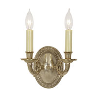 JVI Designs Edmington 2 Light Wall Sconce in Polished Brass 808-01