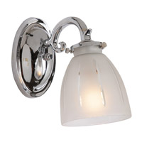 Traditional Brass 1 Light 5 inch Polished Chrome Bath Sconce Wall Light
