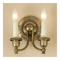 JVI Designs Signature 2 Light Wall Sconce in Rubbed Brass 827-10