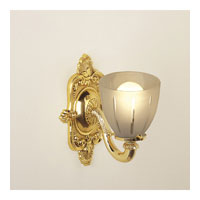 JVI Designs Signature 1 Light Bath Sconce in Polished Brass 837-01
