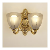 JVI Designs Signature 2 Light Bath Sconce in Polished Brass 839-01