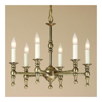 JVI Designs Cast Brass 6 Light Chandelier in Rubbed Brass 904-10 photo thumbnail