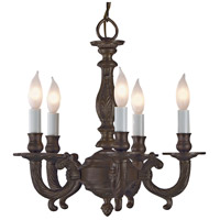 JVI Designs 905-08 San Clemente 5 Light 14 inch Oil Rubbed Bronze Chandelier Ceiling Light