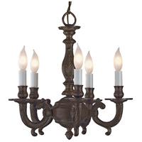 JVI Designs 905-08 San Clemente 5 Light 14 inch Oil Rubbed Bronze Chandelier Ceiling Light