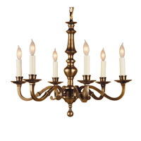 JVI Designs Cast Brass 6 Light Chandelier in Weathered Bronze 906-02