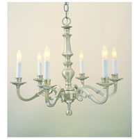 JVI Designs Cast Brass 6 Light Chandelier in Pewter 906-17