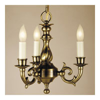 JVI Designs Cast Brass 3 Light Chandelier in Weathered Bronze 912-02