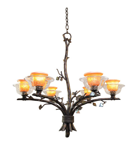 Kalco Lighting Cottonwood 6 Light Chandelier in Sienna Bronze 2522SB/ART photo