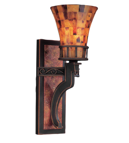 Kalco Lighting Marlowe 1 Light Wall Bracket in Antique Copper 2595AC photo
