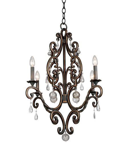 Kalco 2638AC Montgomery 4 Light 26 inch Antique Copper Chandelier Ceiling  Light photo - Kalco 2638AC Montgomery 4 Light 26 Inch Antique Copper Chandelier