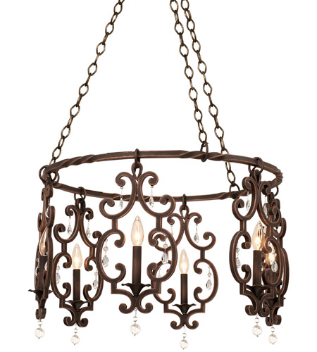 Kalco 2639AC Montgomery 6 Light 27 inch Vintage Iron Chandelier Ceiling  Light in Antique Copper photo - Kalco 2639AC Montgomery 6 Light 27 Inch Vintage Iron Chandelier