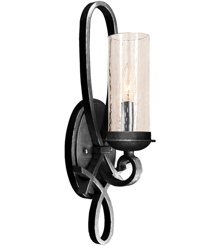 Kalco Bronze Glass Wall Sconces