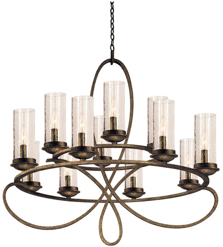 Kalco 2675hb1100 grayson 12 light 32 inch heirloom bronze kalco 2675hb1100 grayson 12 light 32 inch heirloom bronze chandelier ceiling light in seeded side glass 1100 without crystals hierloom bronze audiocablefo