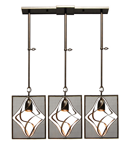 Kalco Oxford 3 Light Mini Pendant in Heirloom Bronze 2696-1HB photo
