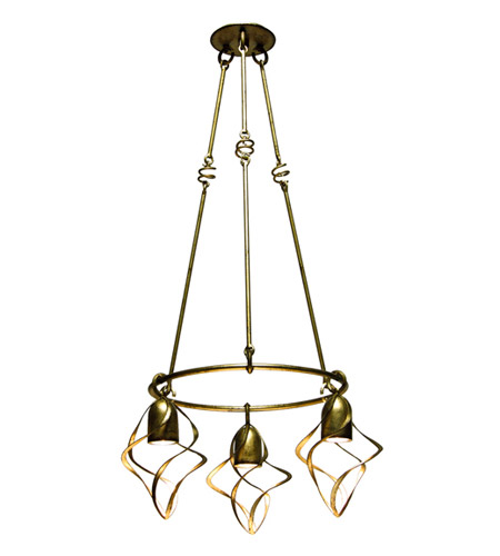 Kalco Oxford 3 Light Chandelier in Aged Silver 2698SV photo