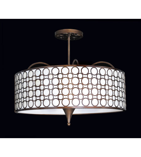 Kalco Amesbury 6 Light Semi Flush Mount in Sienna Bronze 2801SB photo