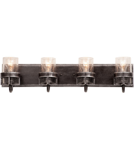 Kalco 2894VI Bexley 4 Light 28 inch Vintage Iron Bath Light Wall Light photo