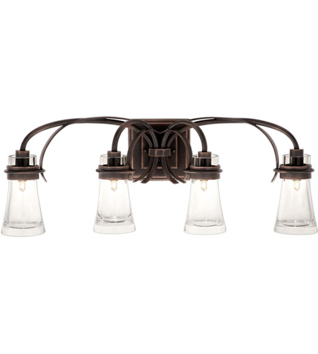 Kalco Lighting Dover 4 Light Bath Light in Antique Copper 2914AC photo