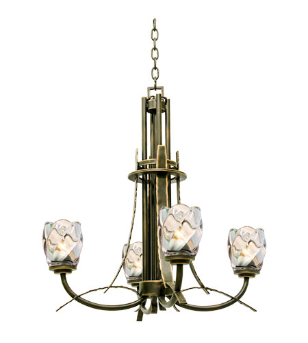 Kalco Penrith 4 Light Chandelier in Antique Copper 2927AC photo