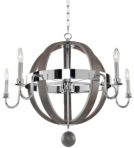 Kalco Chrome Chandeliers