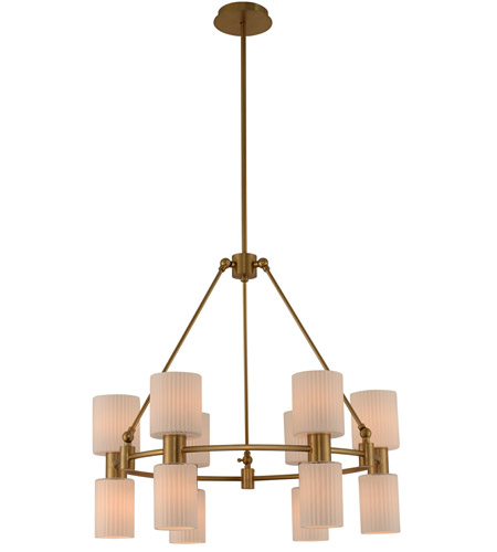 Kalco Winter Brass Chandeliers