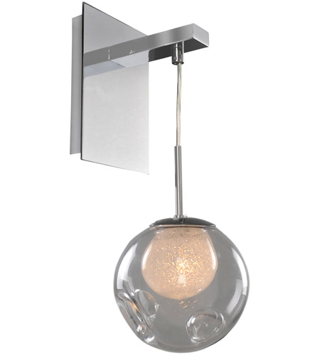 Kalco 309520CH/CLEAR Meteor 1 Light 6 inch Chrome Wall Sconce Wall Light in Clear photo thumbnail