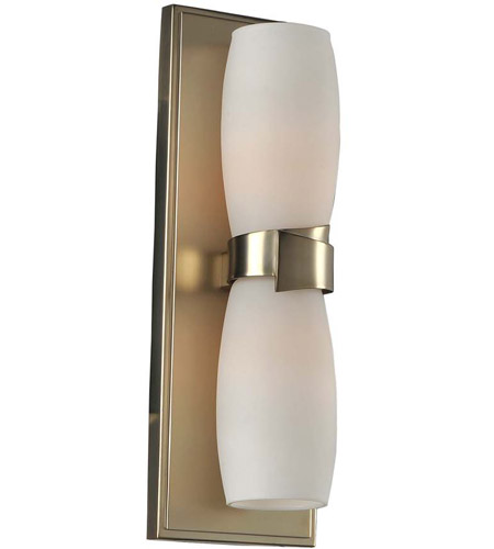 Satin Gold Glass Wall Sconces