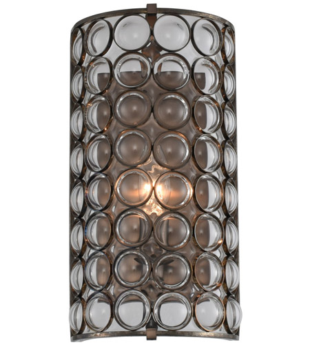 Kalco Stainless Steel Glass Wall Sconces