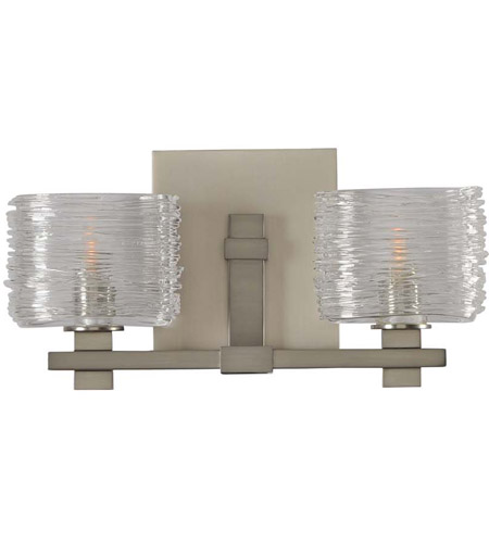 Kalco Spun Glass Bathroom Vanity Lights