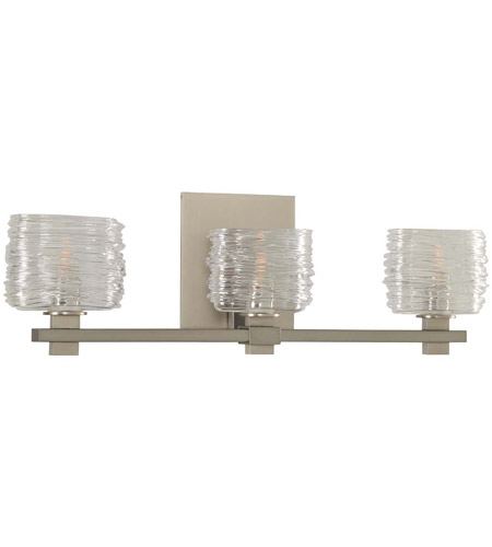 Satin Nickel Clearwater Bathroom Vanity Lights