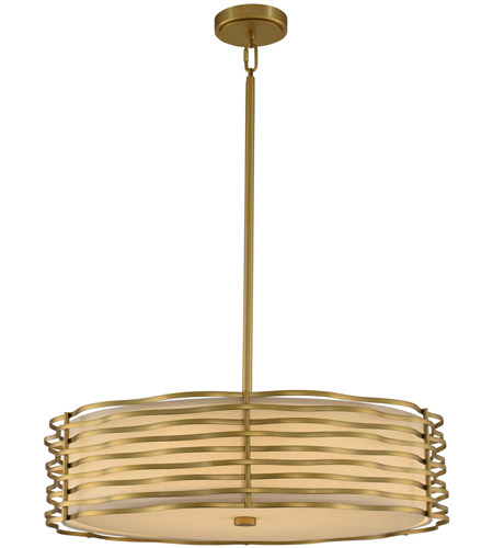 Kalco 312752VBR Paloma LED 25 inch Vintage Brass Pendant Ceiling Light photo thumbnail
