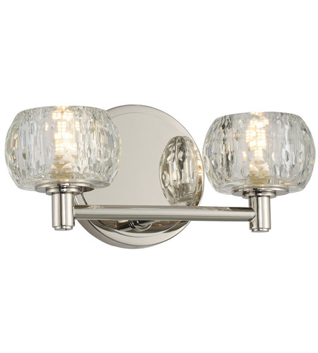 Kalco 312832PN Ella LED 11 inch Polished Nickel Vanity Light Wall Light photo thumbnail