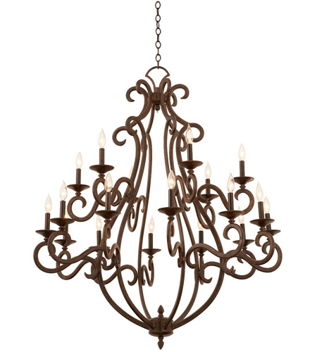 Kalco 3163PS/S205 Santa Barbara 18 Light 44 inch Pearl Silver Chandelier Ceiling Light photo