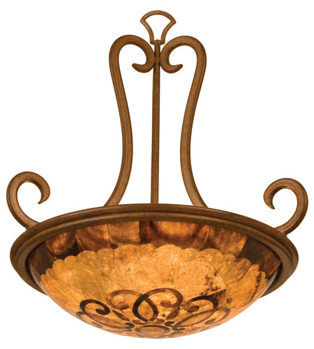 Kalco Santa Barbara 3 Light Pendant in Tuscan Sun 3177TN/PS112 photo