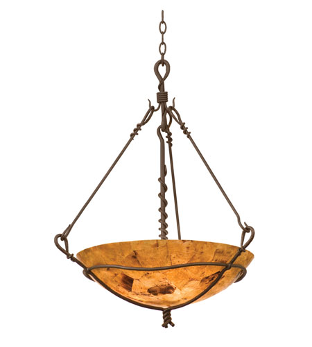 Kalco 3491BA/PS102 Vine 3 Light 25 inch Bark Pendant Ceiling Light in Penshell (PS102) photo
