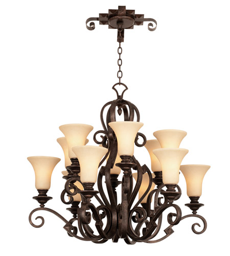 Kalco Country Iron Chandeliers