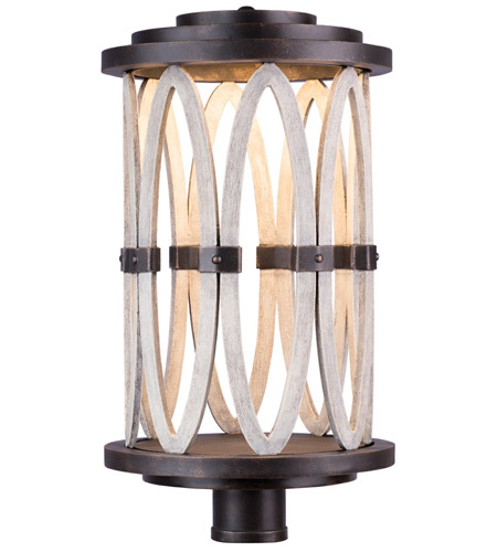 Kalco 404400FG Belmont Outdoor LED Florence Gold Post Mount photo