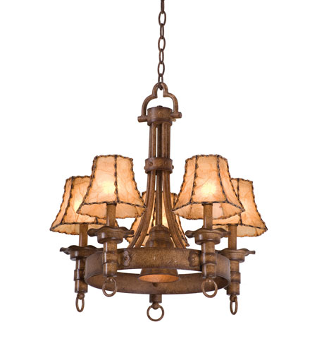 Kalco Americana 5 Light Chandelier in Bellagio 4205BG/8045 photo