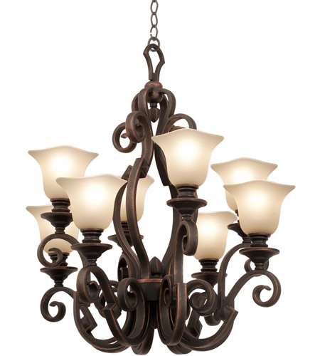 Kalco 4262PS/PS14 Ibiza 8 Light 30 inch Pearl Silver Chandelier Ceiling Light photo thumbnail
