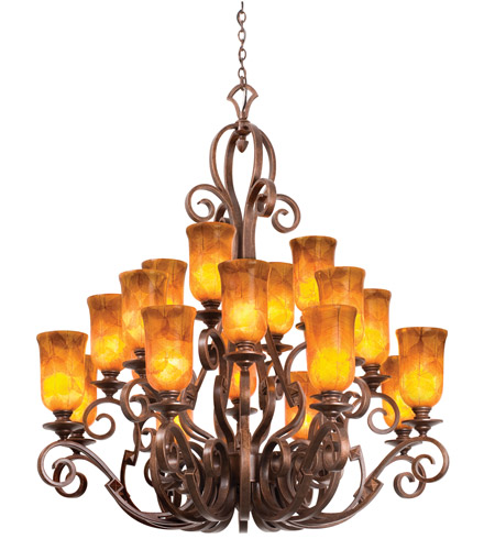 Kalco Ibiza 20 Light Chandelier in Copper Claret 4274CC/NS09 photo