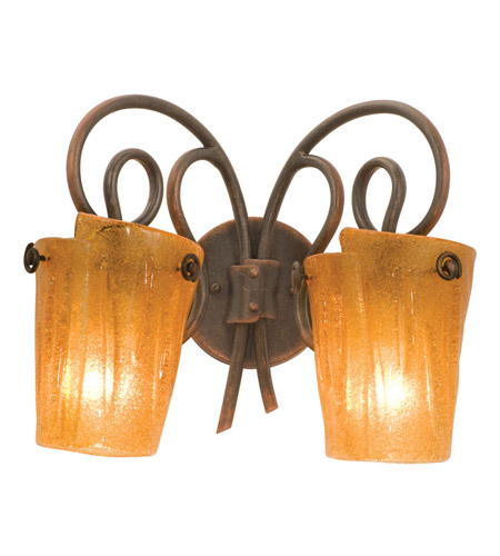 Kalco 4282AC/FLAME Tribecca 2 Light 16 inch Antique Copper Bath Light Wall Light in Flame (FLAME) photo