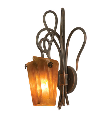 Kalco Lighting Tribecca 1 Light Wall Sconce in Antique Copper 4285AC/FLAME photo
