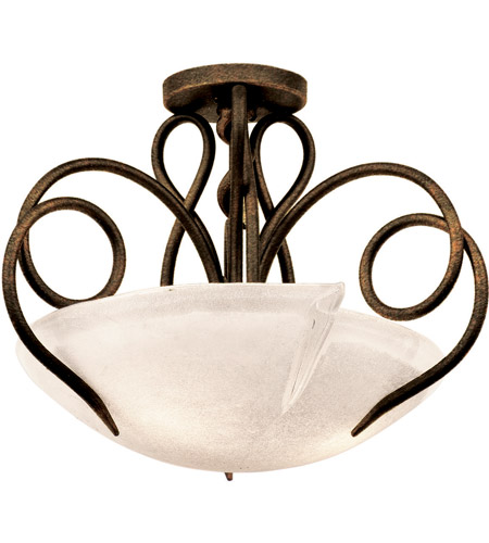 Modern Gold Glass Semi-Flush Mounts